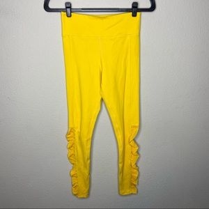 ZYIA Yellow Marigold Ruched Leggings 4